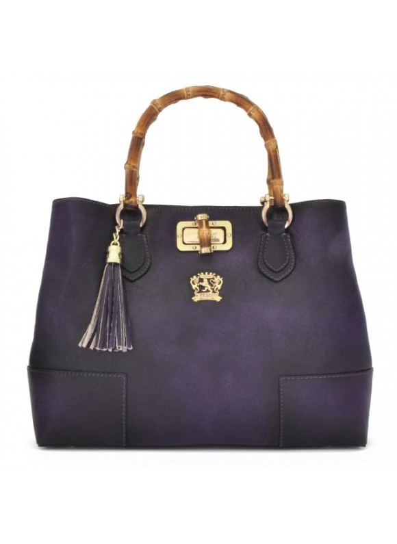 Pratesi Sarteano Shoulder Bag in cow leather - Bruce Violet