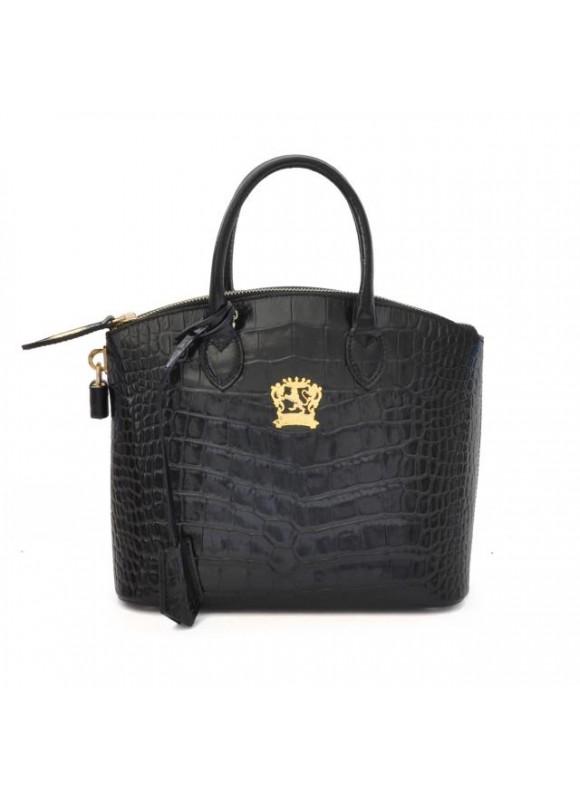 Pratesi Versilia King Small Woman Bag in cow leather - King Black