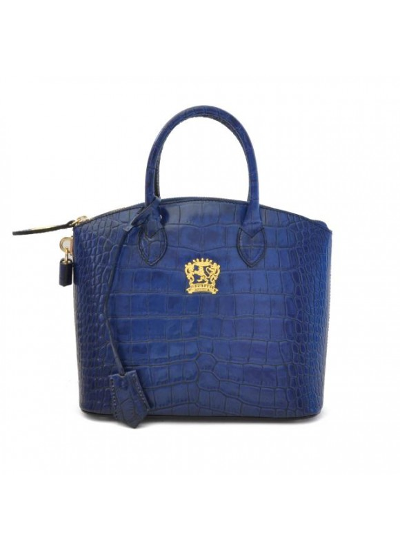 Pratesi Versilia King Small Woman Bag in cow leather - King Blue