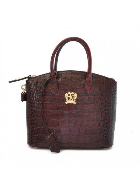 Pratesi Versilia King Small Woman Bag in cow leather - King Brown