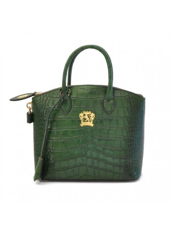 Pratesi Versilia King Small Woman Bag in cow leather - King Green