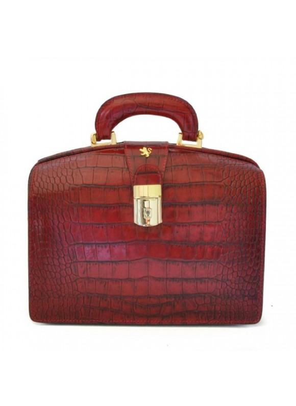 Pratesi Miss Brunelleschi King Woman Bag in cow leather - King Cherry