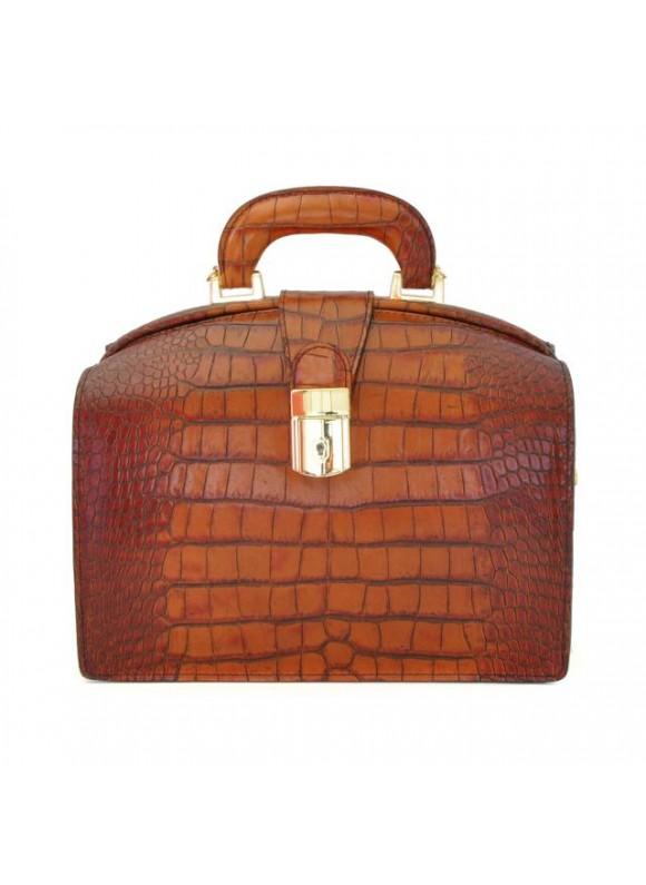 Pratesi Miss Brunelleschi King Woman Bag in cow leather - King Cognac