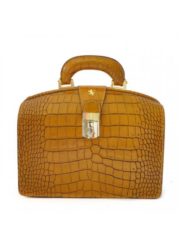 Pratesi Miss Brunelleschi King Woman Bag in cow leather - King Mustard