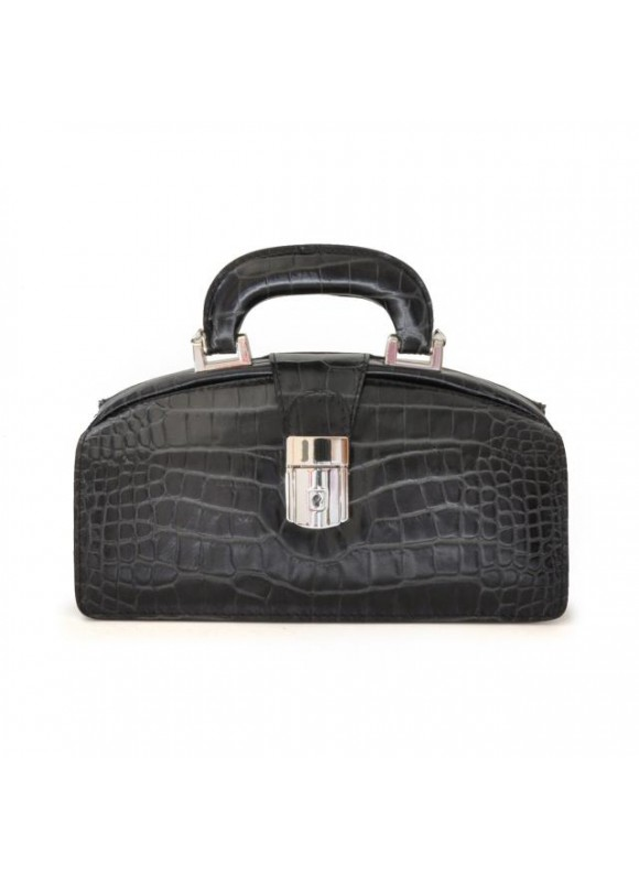 Pratesi Lady Brunelleschi King Woman Bag in cow leather - King Black