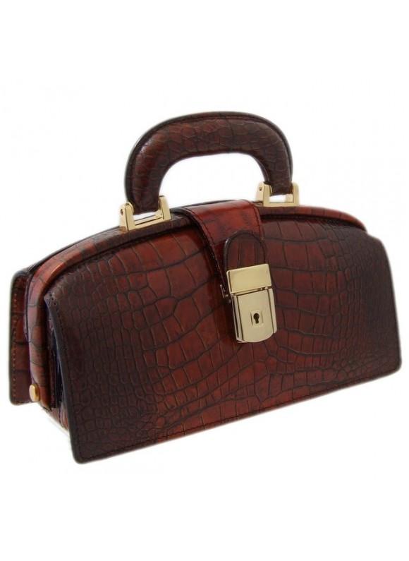 Pratesi Lady Brunelleschi King Woman Bag in cow leather - King Cognac