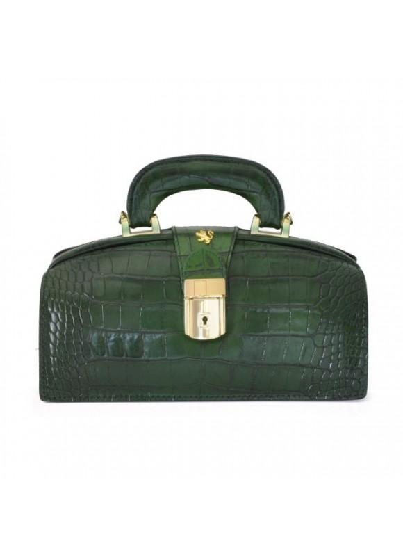 Pratesi Lady Brunelleschi King Woman Bag in cow leather - King green