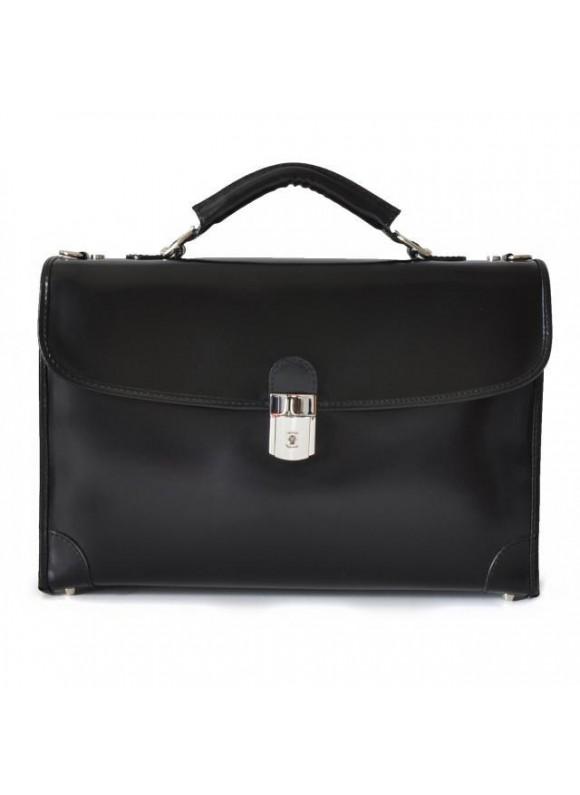 Pratesi Leccio Radica Briefcase in cow leather - Radica Black