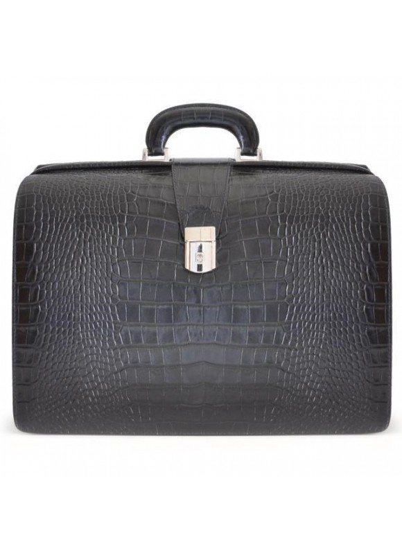Pratesi Leonardo King Briefcase in cow leather - King Black