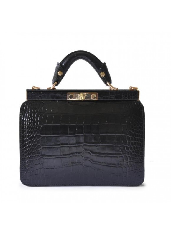 Pratesi Vittoria Colonna King Woman Bag in real leather - King Black