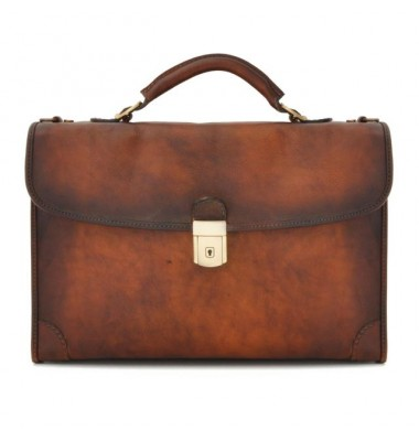 Pratesi Briefcase Leccio in cow leather - Bruce Brown