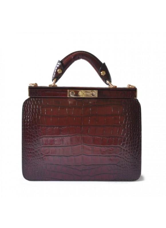 Pratesi Vittoria Colonna King Woman Bag in real leather - King Chianti