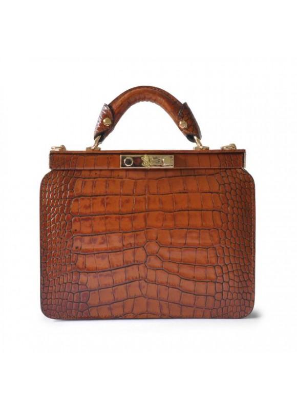 Pratesi Vittoria Colonna King Woman Bag in real leather - King Cognac