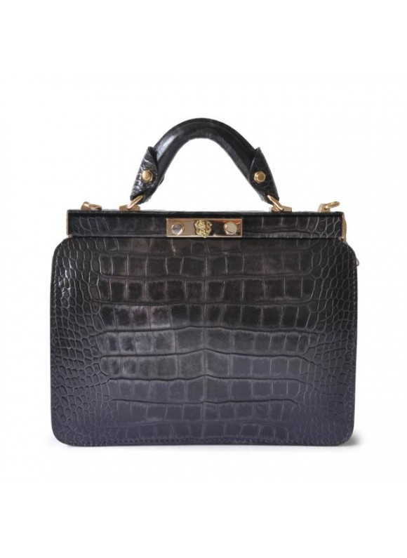 Pratesi Vittoria Colonna King Woman Bag in real leather - King Grey