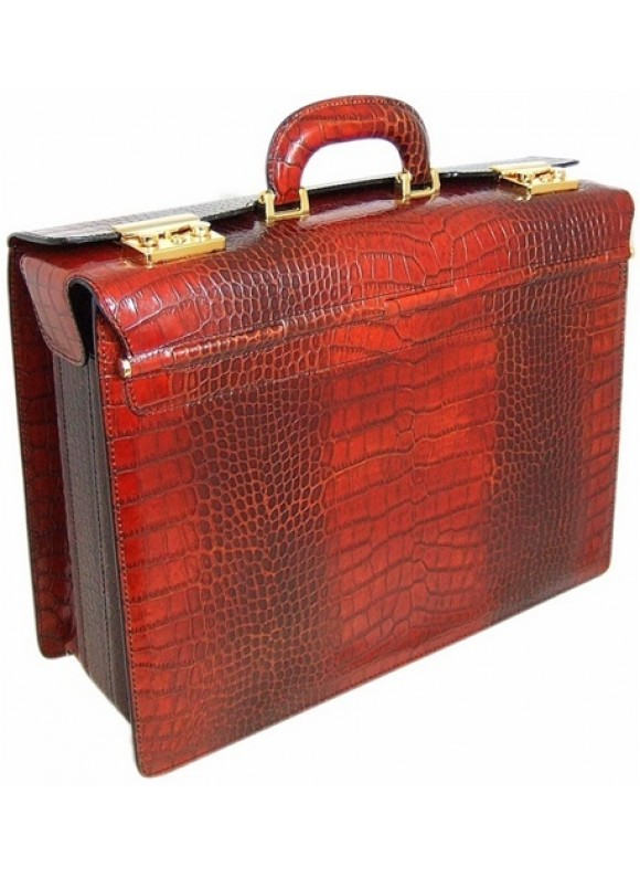 Pratesi Lorenzo il Magnifico King Pilot Case in cow leather - King Cognac