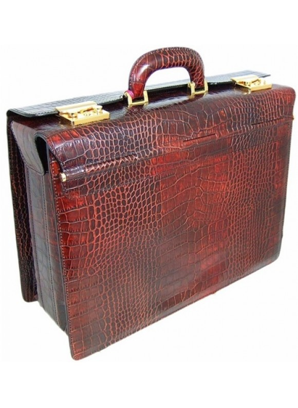 Pratesi Lorenzo il Magnifico King Pilot Case in cow leather - King Brown