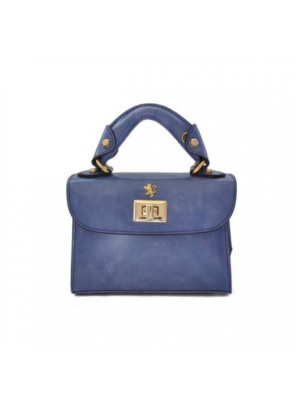 Pratesi Lucignano Small Handbag in cow leather - Radica Violet