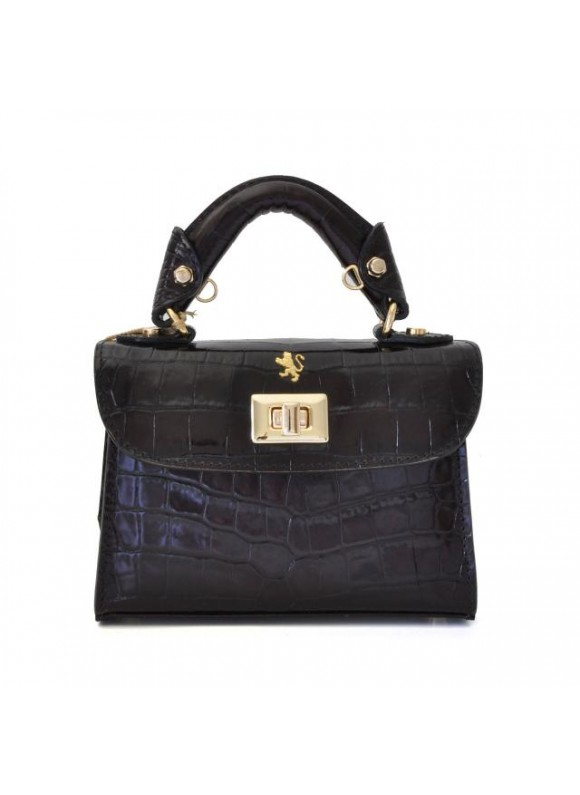 Pratesi Lucignano Small Handbag in cow leather - King Black