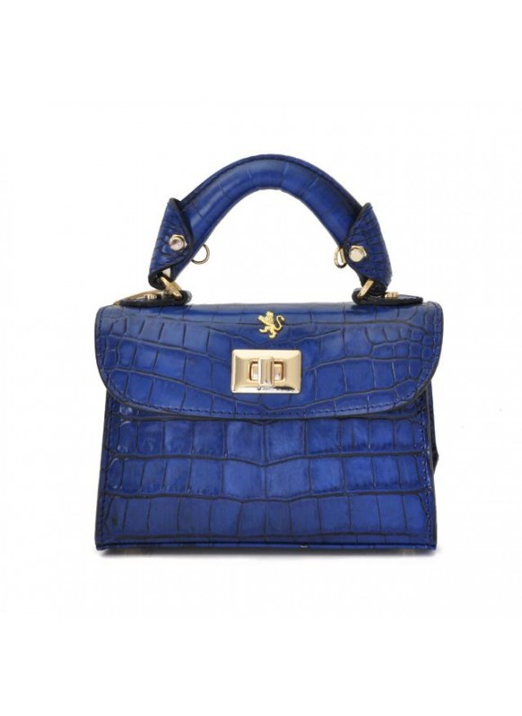 Pratesi Lucignano Small Handbag in cow leather - King Blue Electric