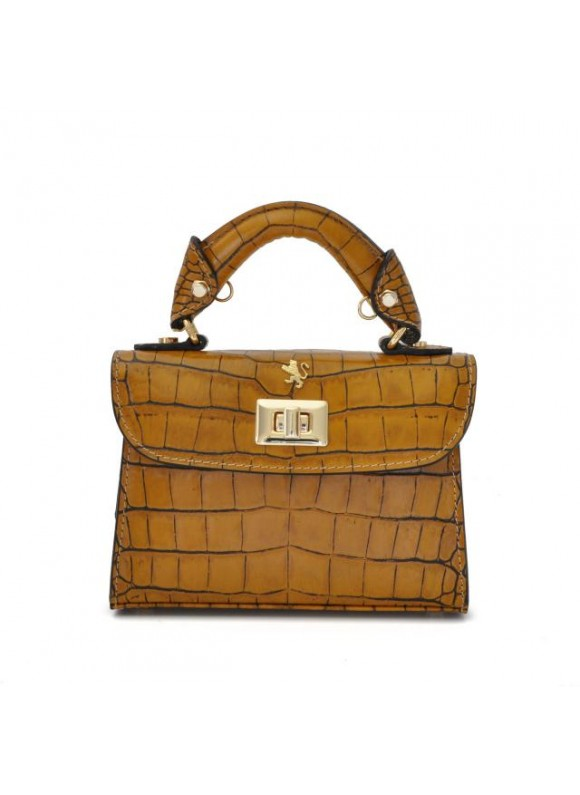 Pratesi Lucignano Small Handbag in cow leather - King Mustard