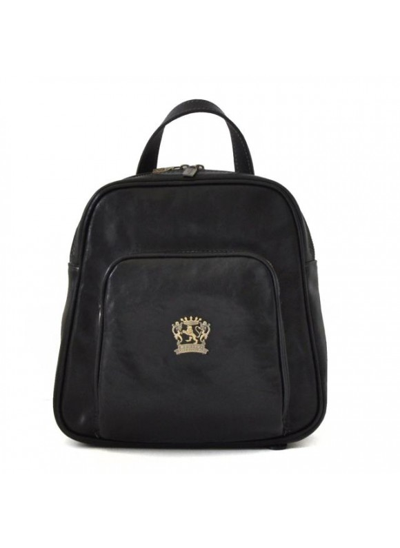 Pratesi Sirmione Backpack in cow leather - Bruce Black