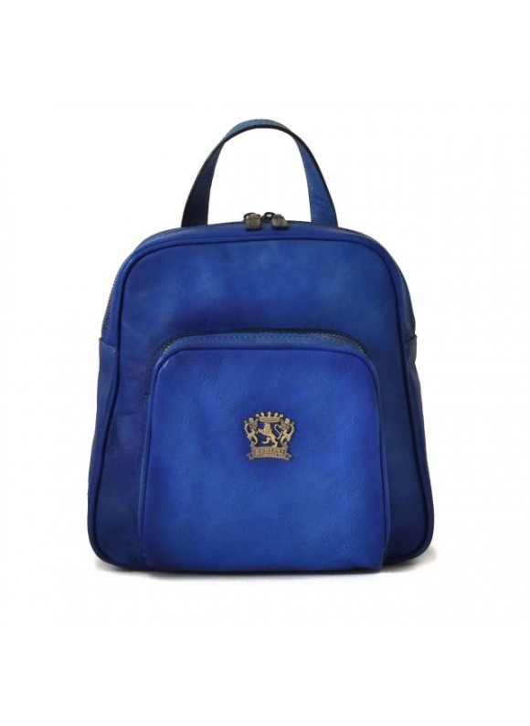 Pratesi Sirmione Backpack in cow leather - Bruce Electric Blue