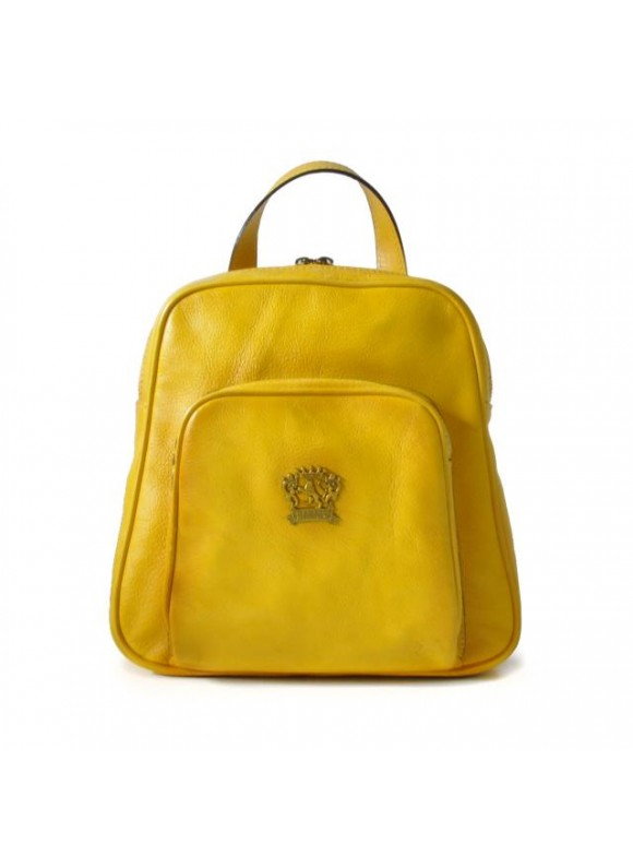 Pratesi Sirmione Backpack in cow leather - Bruce Yellow
