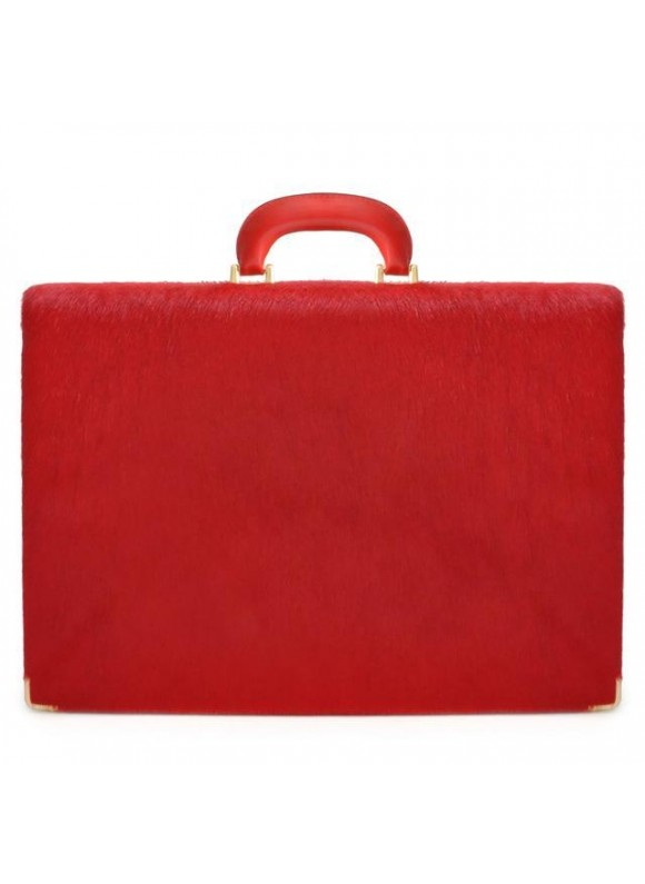 Pratesi Machiavelli/7 Cavallino Briefcase 24H in real leather - Cavallino Cherry