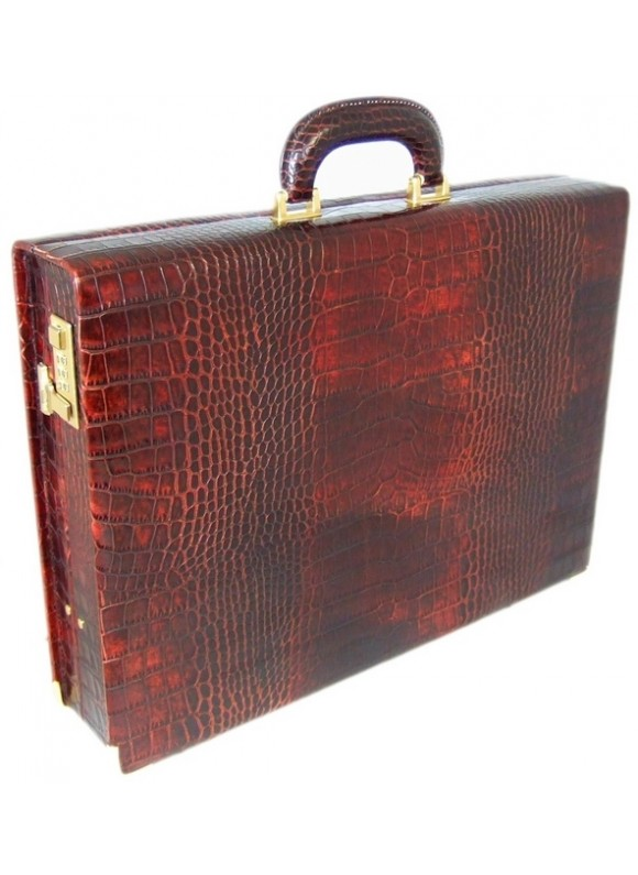 Pratesi Machiavelli Small King Attach Case 24H in cow leather - King Brown