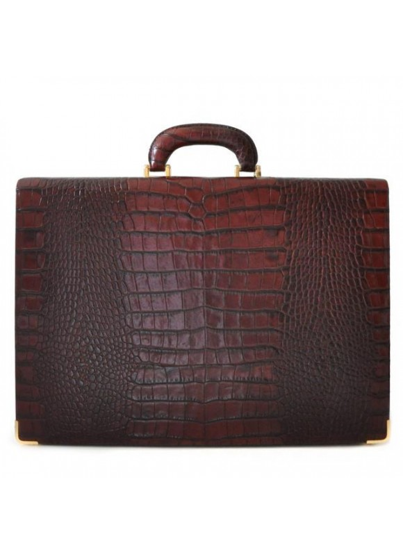 Pratesi Machiavelli Small King Attach Case 24H in cow leather - King Panna