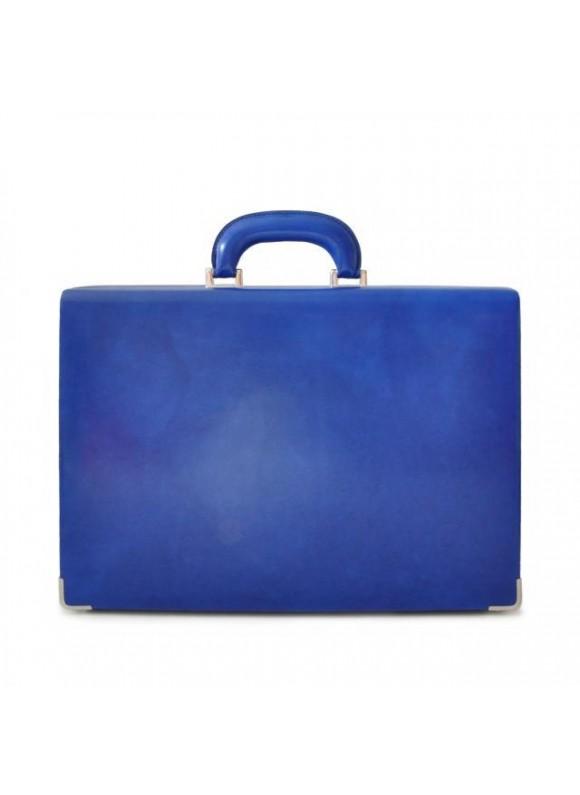 Pratesi Machiavelli Small Attach Case in cow leather - Radica Electric Blue