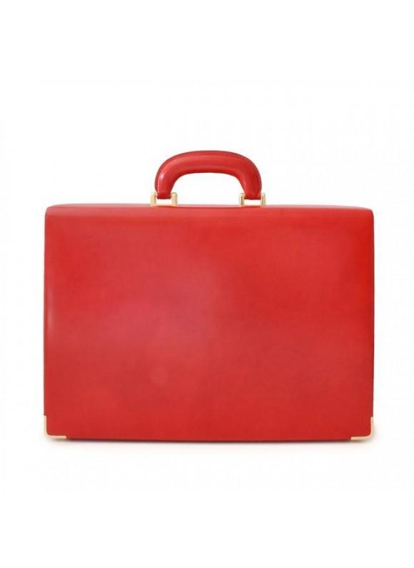 Pratesi Machiavelli Small Attach Case in cow leather - Radica Cherry