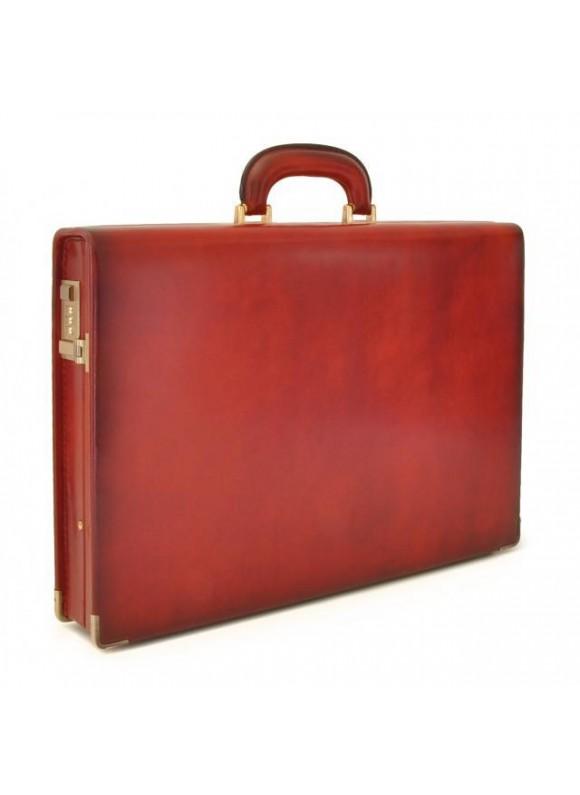 Pratesi Machiavelli Slim Santa Croce Attach Case in real leather - Santa Croce Cherry