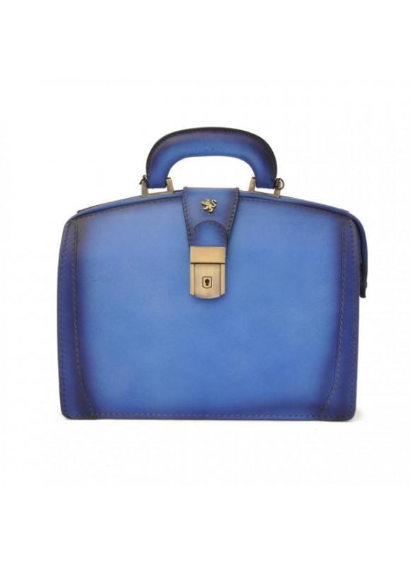 Pratesi Handbag Miss Brunelleschi Bruce in cow leather - Radica Sky Blue