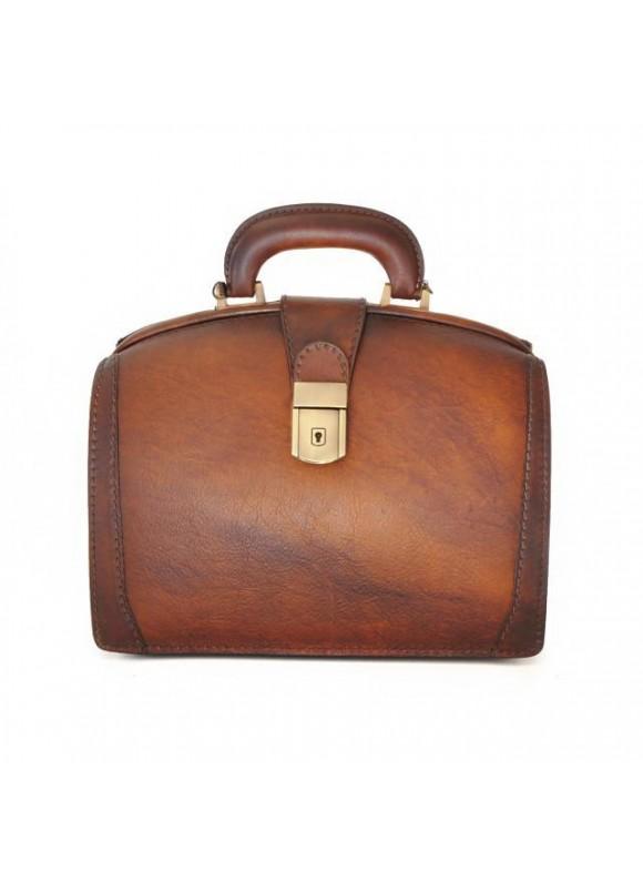 Pratesi Handbag Miss Brunelleschi Bruce in cow leather - Bruce Brown