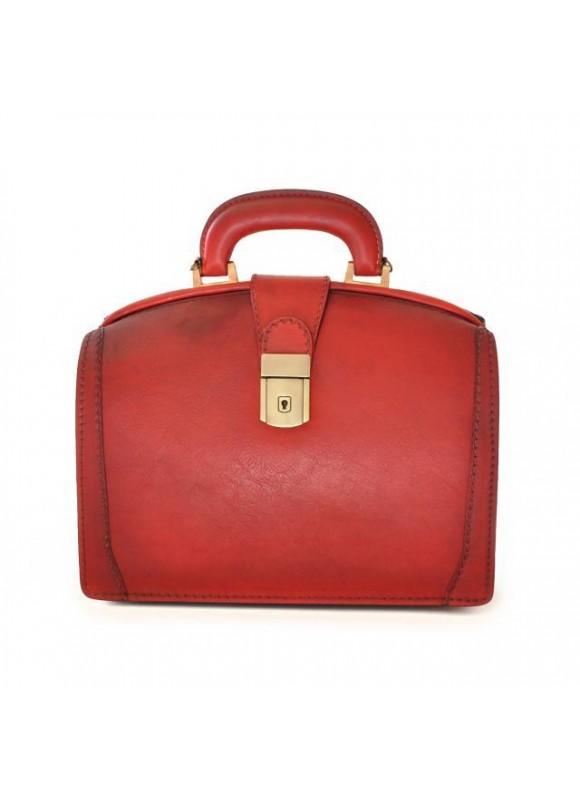 Pratesi Handbag Miss Brunelleschi Bruce in cow leather - Radica Cherry