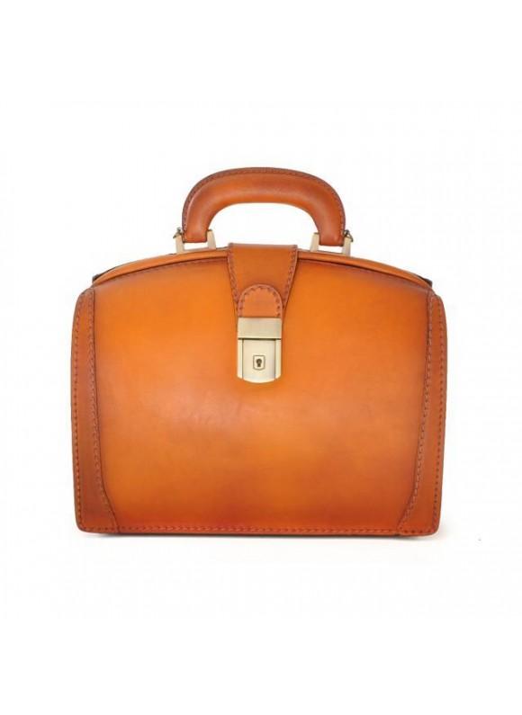 Pratesi Handbag Miss Brunelleschi Bruce in cow leather - Bruce Cognac