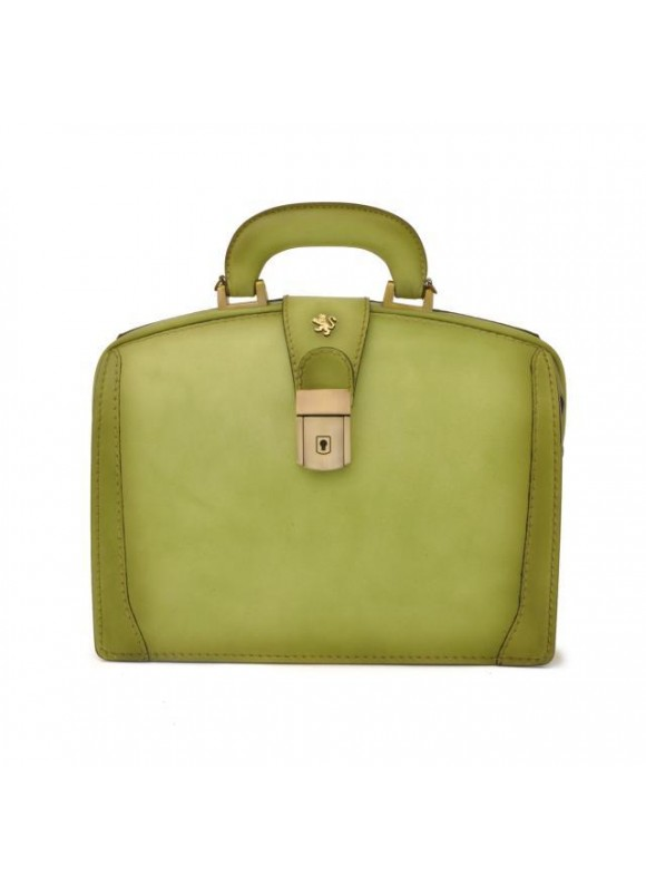 Pratesi Handbag Miss Brunelleschi Bruce in cow leather - Bruce Green