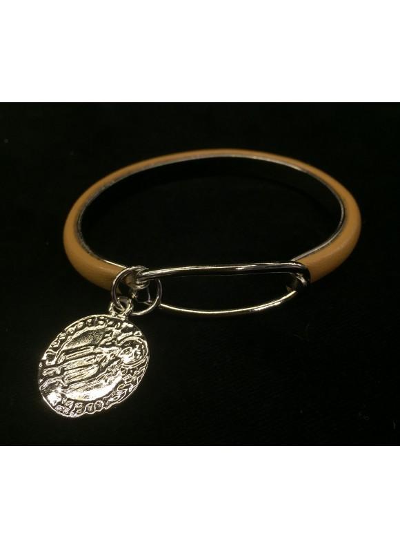 Шкіряний браслет з медальйоном  7c292a4c02e28