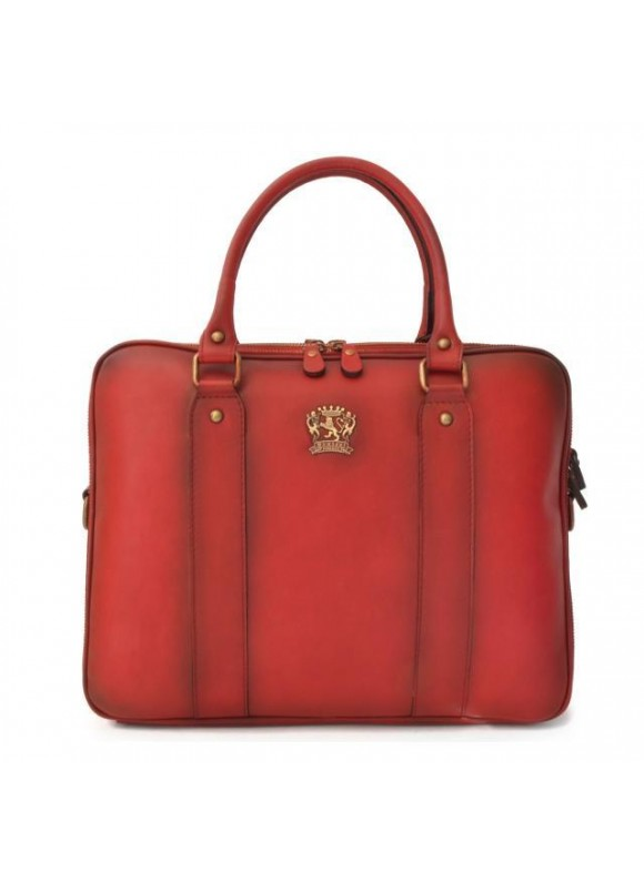 Pratesi Briefcase Magliano in cow leather - Bruce Cherry