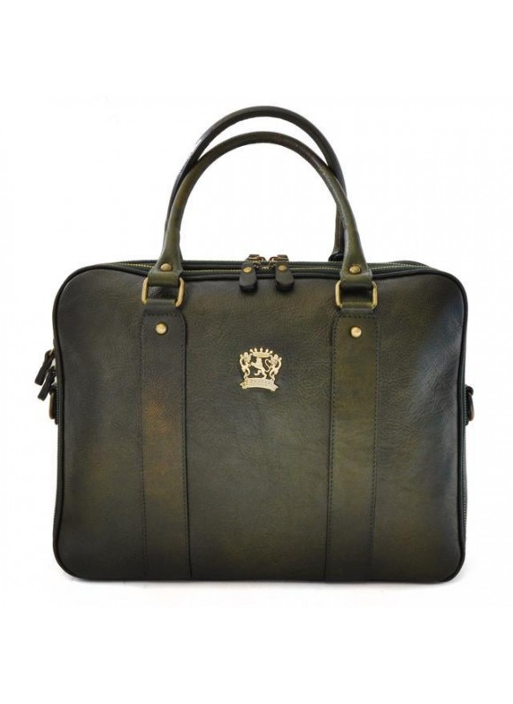 Pratesi Briefcase Magliano in cow leather - Bruce Dark Green