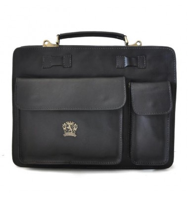 Pratesi Business Bag Milano Small in cow leather - Bruce Black