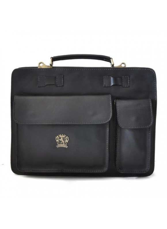 Pratesi Business Bag Milano Big in cow leather - Bruce Black