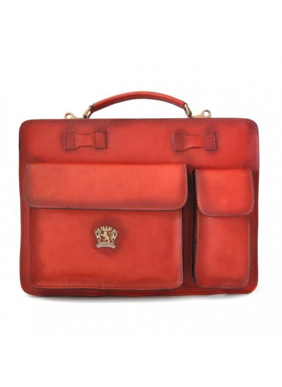 Pratesi Business Bag Milano Small in cow leather - Bruce Cherry