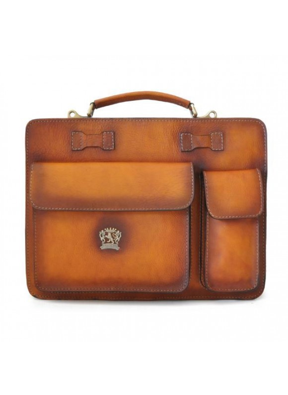Pratesi Business Bag Milano Big in cow leather - Bruce Cognac
