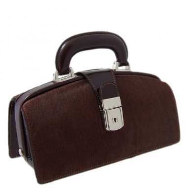Pratesi Lady Brunelleschi Cavallino Handbag in real leather - Cavallino Coffee