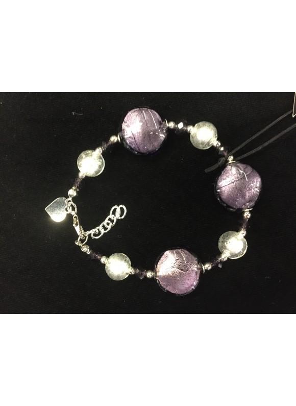 Браслет из муранского стекла  Фиолет