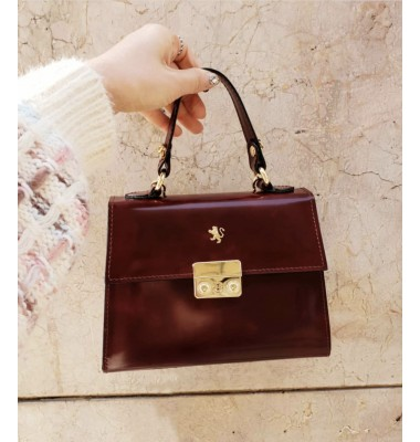 Pratesi Artemisia Lady Bag in cow leather - Radica Chianti