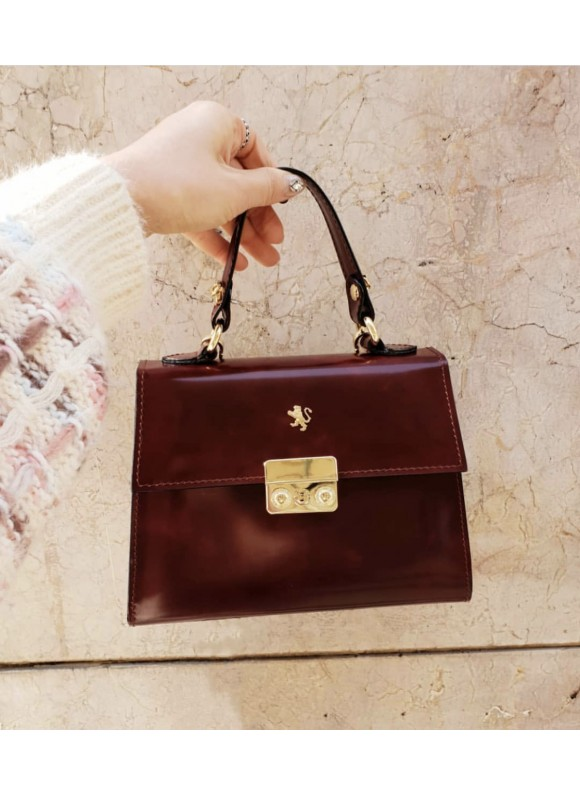 Pratesi Artemisia Lady Bag in cow leather - Radica Chianti