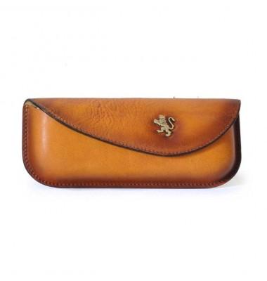 Pratesi Eyeglass Case in cow leather - Bruce Cognac